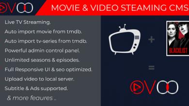 OVOO v2.5.7 - TV Dizisi ile Film ve Video Akış CMS İndir