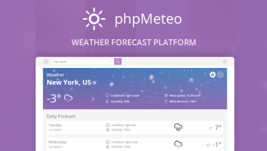 Photo of phpMeteo v1.8 – Hava Durumu Script İndir