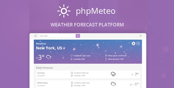 phpMeteo v1.8 - Hava Durumu Script İndir