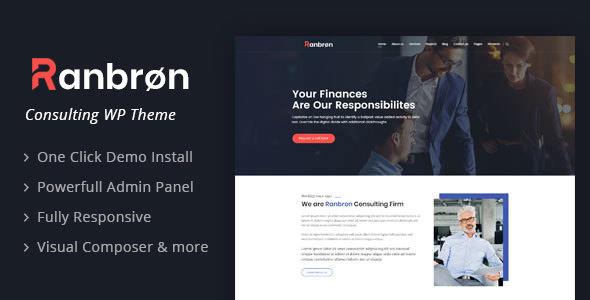 Ranbron v1.7 - WordPress İş ve Danışmanlık Teması İndir