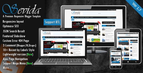 Sevida v1.7 - Blogger Magazin & Blog Şablonu İndir