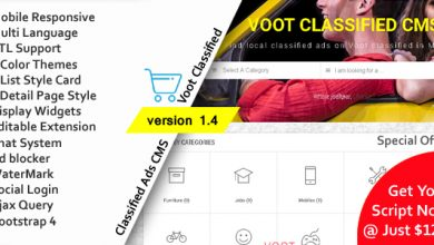 Photo of Voot Classified v1.4 – İlan Script İndir