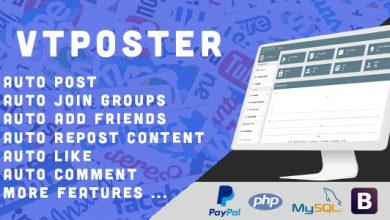 VTPoster v1.5 - Facebook Pazarlama Aracı Script İndir