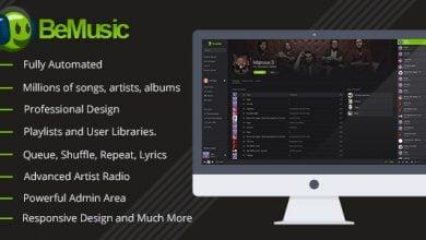 Photo of BeMusic v2.3.4 – Müzik Dinleme Script İndir