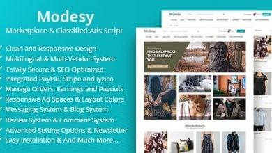 Photo of Modesy v1.3.2 – PHP Butik & Mağaza Script İndir