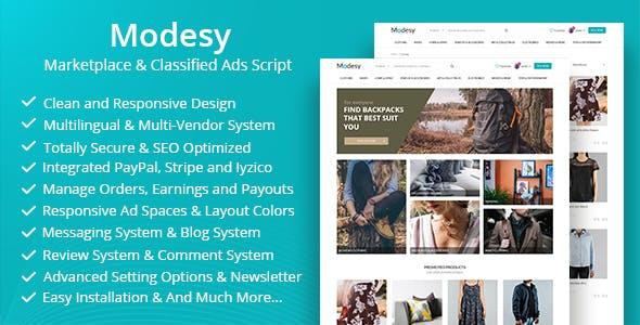 Modesy v1.3.2 - PHP Butik & Mağaza Script İndir