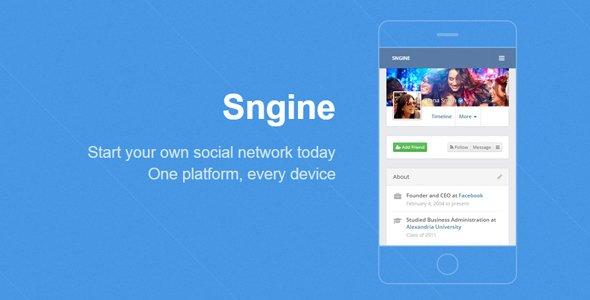 Sngine v2.5.8 - Ultimate PHP Sosyal Ağ Script İndir