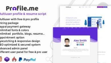 Profile.me v1.0 - Kullanıcılı Profil ve Özgeçmiş Script İndir