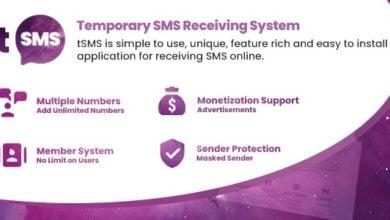 tSMS - Geçici SMS Alma Script İndir