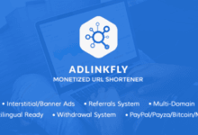 AdLinkFly v6.3.0 - Para Kazandıran URL Kısaltma Script İndir