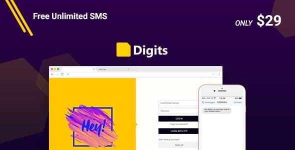 Digits v6.10.0.2 - WordPress Telefon Numarası Kayıt ve Giriş Eklentisi İndir