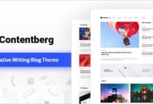 Photo of Contentberg Blog v1.7.1 – WordPress Blog Teması İndir