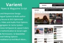 Photo of Varient v1.6.3 – Haber ve Magazin Script İndir