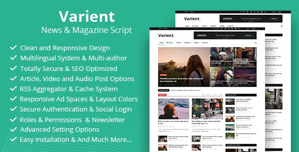Varient v1.6.3 - Haber ve Magazin Script İndir